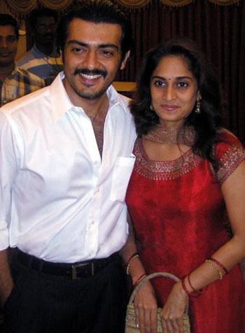 Tamil Actor Ajith with shalini
