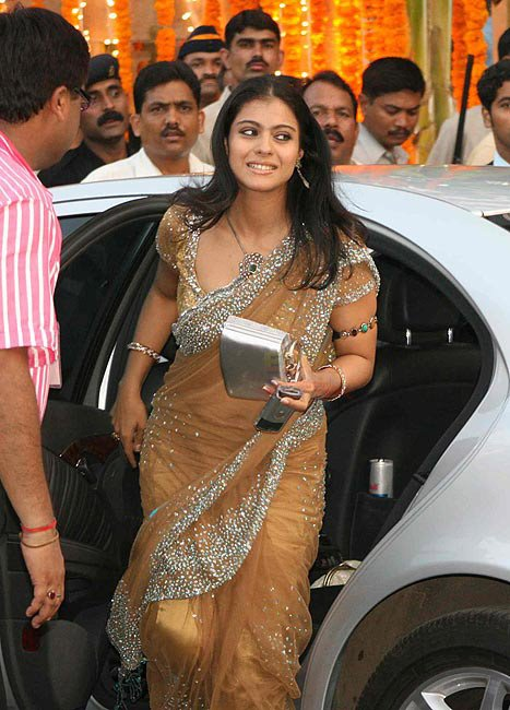 Kajol designer saree Indian celebrities in saree photo gallery