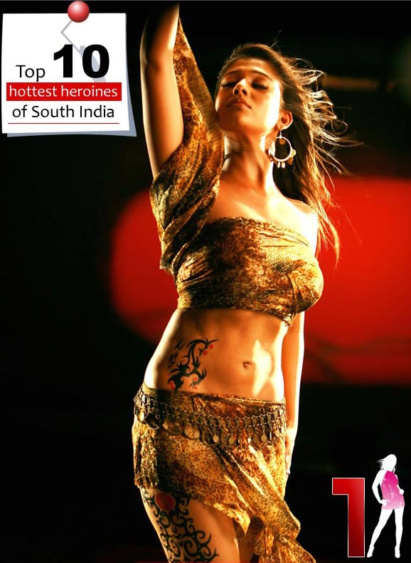 top 10 hottest nayanthara2 Top 10 hot heroines of South India