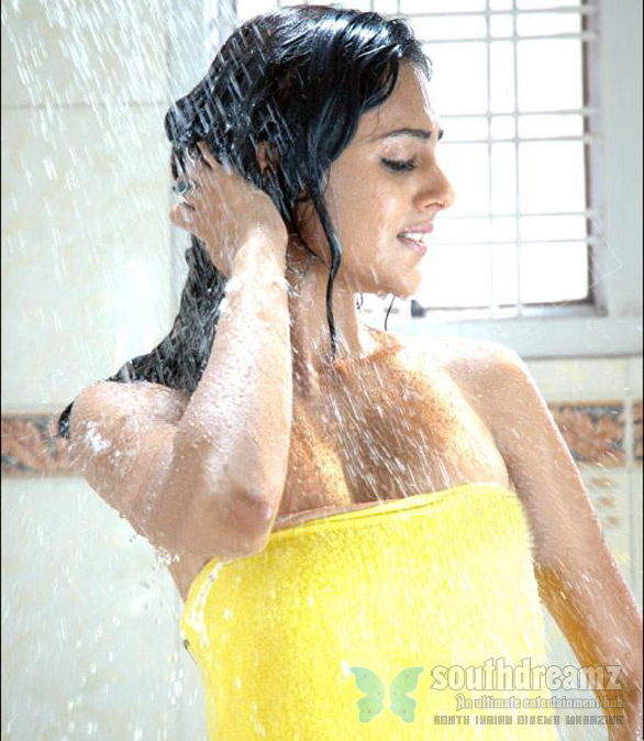 Astha Singhal bathing hot South Indian girls in towel bathing dress   Very rare pictures