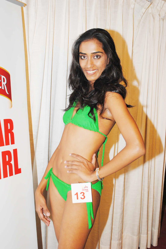 Bikini babes audition for Kingfisher Calendar 2011