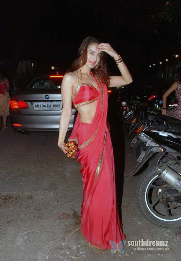 Amisha Patel in Red Saree 05 Amisha Patel Hot in Red Saree