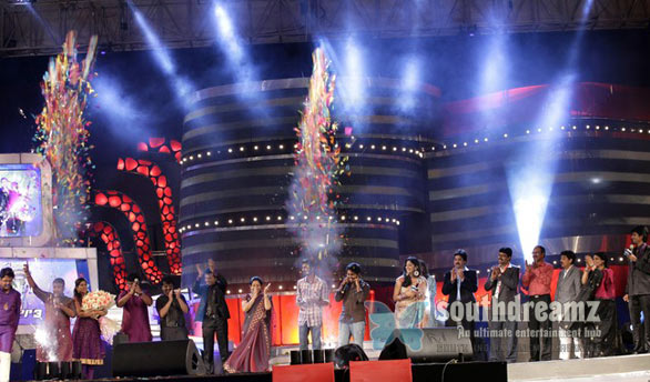 Airtel Super Singer 3 Finale Photos 02 Airtel Super Singer 3 Finale   Sathyaprakash, Saicharan, Santhosh, Pooja at Trade Center, Nandambakkam, Chennai