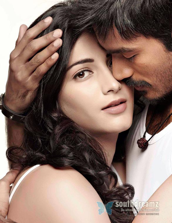 3 dhanush shruti hassan love making stills Superstar Rajnikanths Why This Kolaveri Da?
