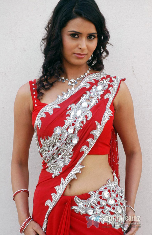 meenakshi dixit in red saree stills4 Meenakshi Dixit to add more glamour to Billa 2