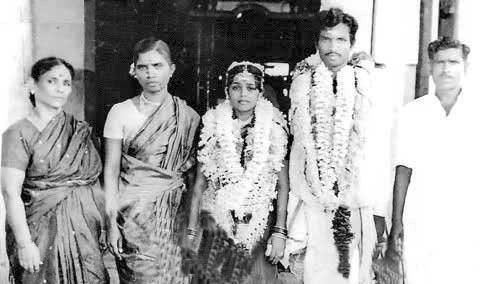 tamil cinema actor goundamani wedding photo goundamanis wedding photo