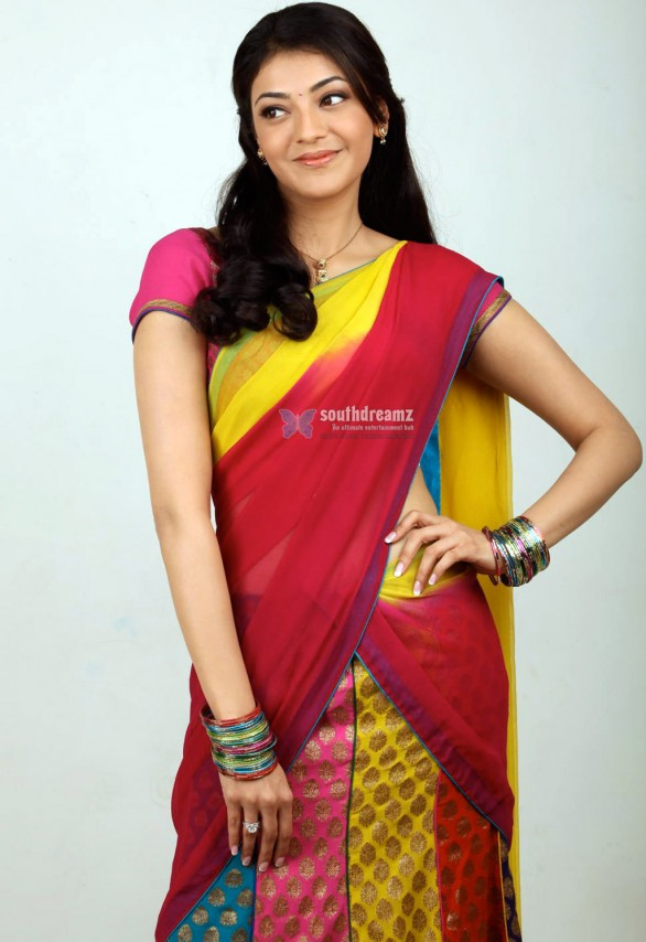 actress kajal agarwal half saree stills 2 586x854 Happy Birthday Kajal Agarwal