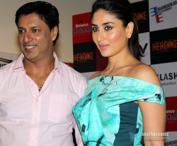 Kareena Kapoor Madhur Bhandarkar at launch of Heroine title track 12 586x483 Ranveer Singh prefers Kareena Kapoor over Deepika Padukone?