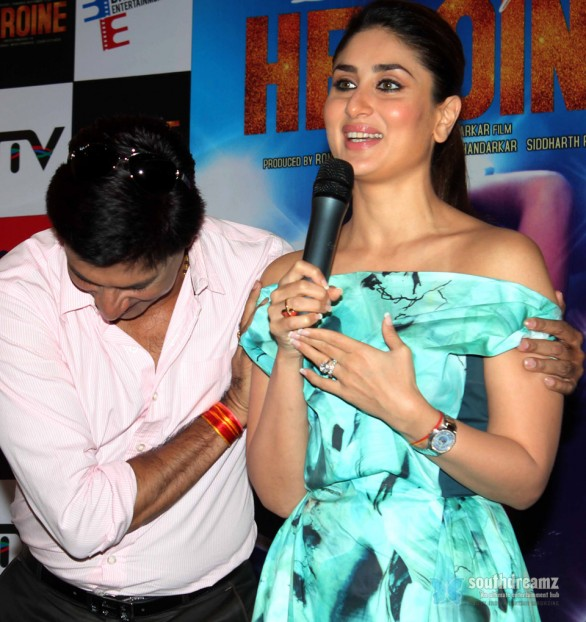Kareena Kapoor Madhur Bhandarkar at launch of Heroine title track 9 586x622 Ranveer Singh prefers Kareena Kapoor over Deepika Padukone?