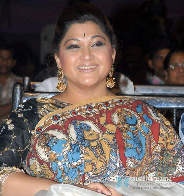 Actress Khushboo Hanuman Saree Khushboo in controversy over Saree with Hanuman photo