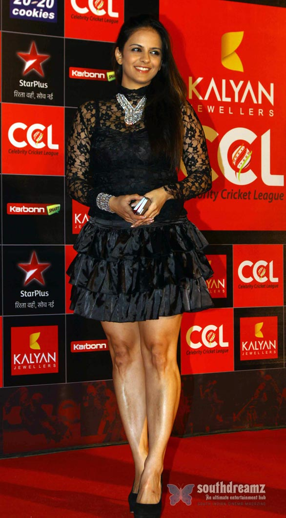 Hot Heroines at CCL 3 Curtain Raiser Photos 1612 Celebrity Cricket League Season 3 curtain raiser