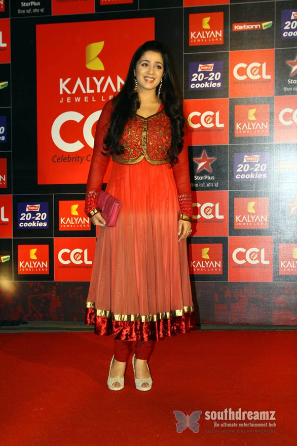 charmi at CCL Season 3 Curtain Raiser Photos 1058 Celebrity Cricket League Season 3 curtain raiser