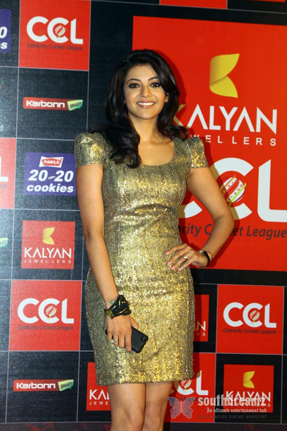 kajal CCL Season 3 Curtain Raiser Photos 1608 Celebrity Cricket League Season 3 curtain raiser