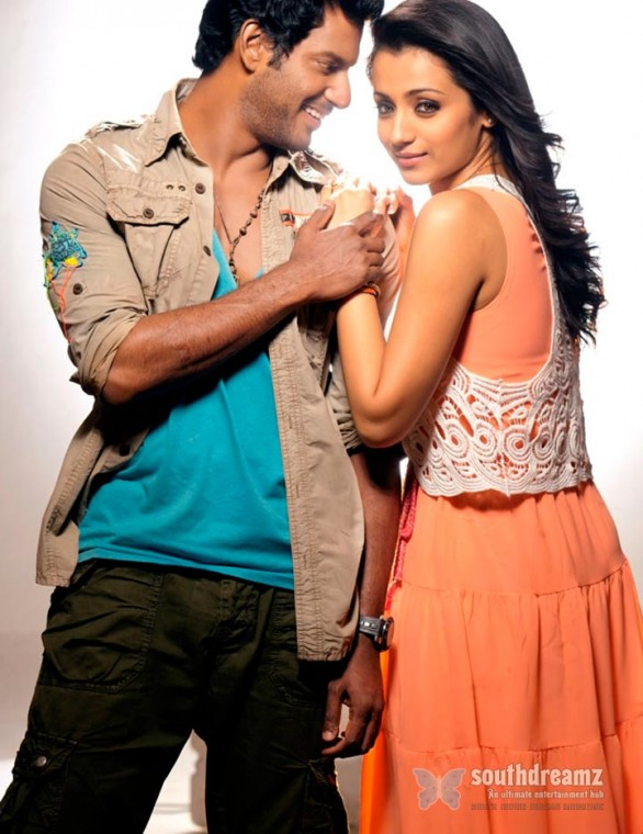 vishal and trisha in samar movie 2 586x760 Samar review