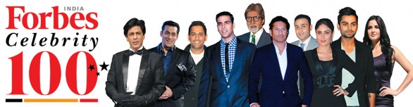 Forbes India Celebrity 100 List 586x152 Forbes top 100 Indian Celebrities 2012