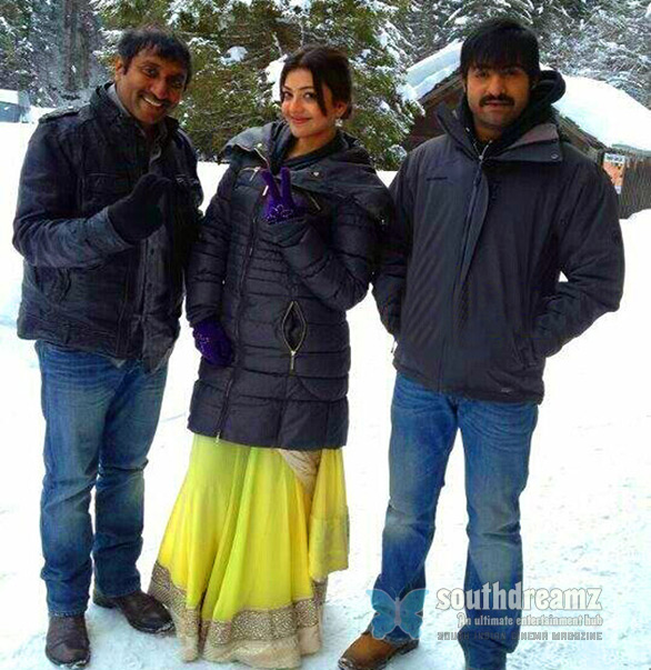 Junior NTR Kajal at Extreme Temperatures Junior NTR & Kajal Agarwal at Extreme Temperatures