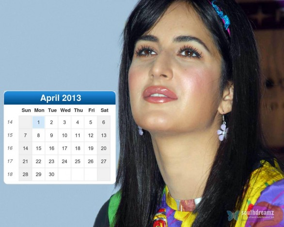 katrina kaif desktop calendar april 2013 586x468 Katrina Kaif calendar 2013 wallpaper