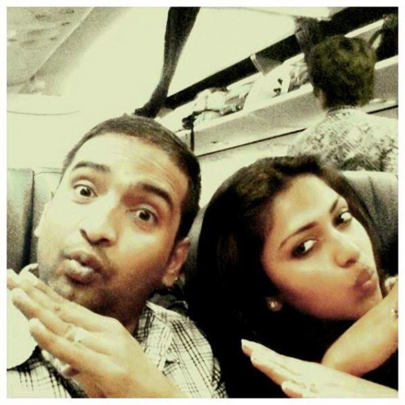 Amala-paul-Australia-Journey-With-Comedian-santhanam
