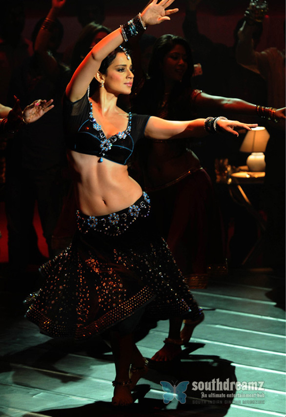 Pic Skinny Lady Sexy Navel fold Kangana Ranaut hot item song