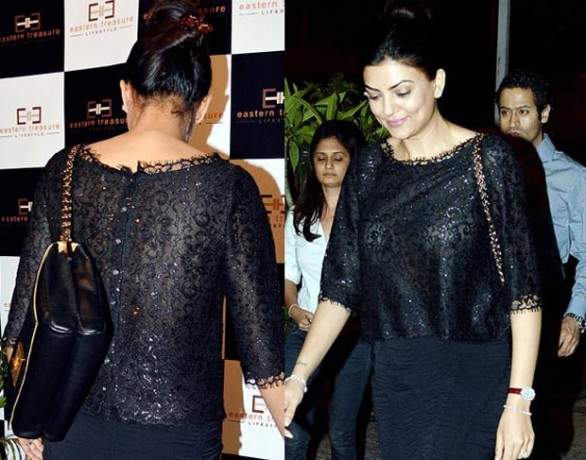 Beauty Queen see-through top Former Miss Universe Sushmita Sen