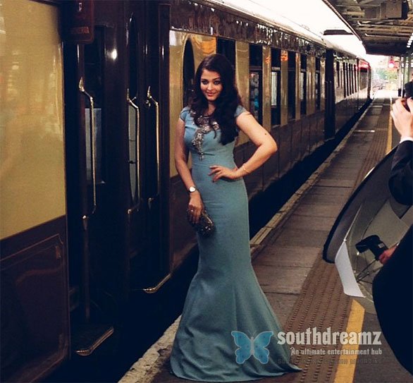 Aishwarya on the Orient Express Aishwarya Rai on the Orient Express