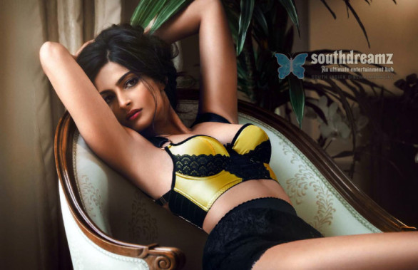 sonam kapoor exemplifies glamour hot look gq india august 2013 issue 586x379 RED Hot Sonam Kapoor