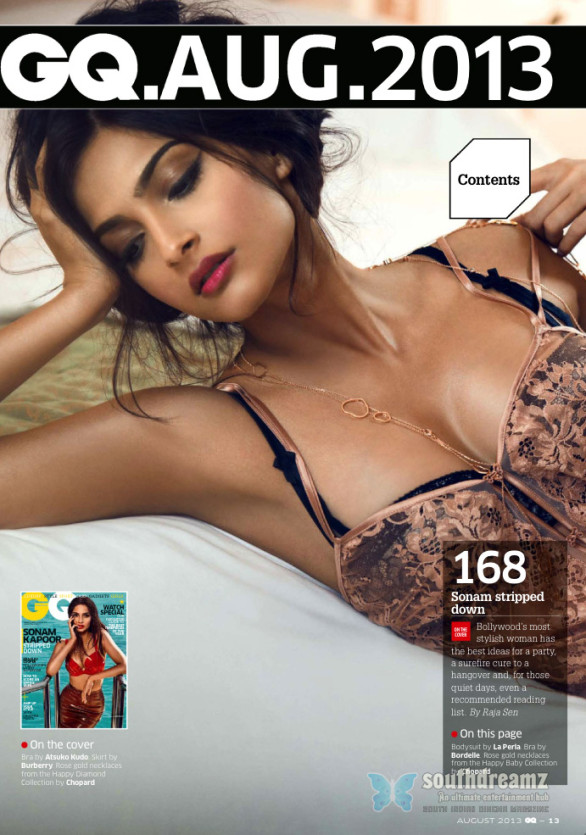 sonam kapoor sizzling hot look gq india august 2013 issue 586x835 RED Hot Sonam Kapoor