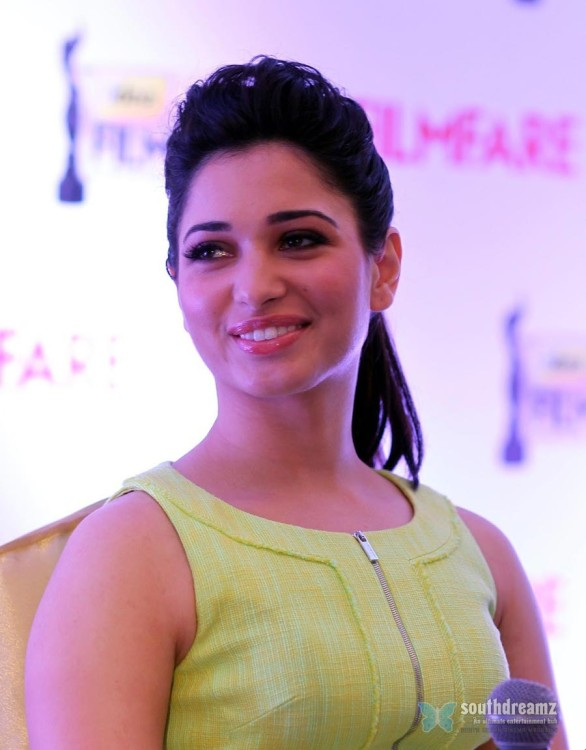 bollywood- hot-masala-actress-tamanna-at-zipper-green-dress-high-heel-purple-velvet-shoe-10