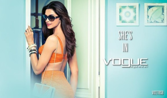 Deepika Padukone Print Media for Vogue Eyewear photos 2 586x343 Deepika Padukone Vogue Eyewear Photoshoot
