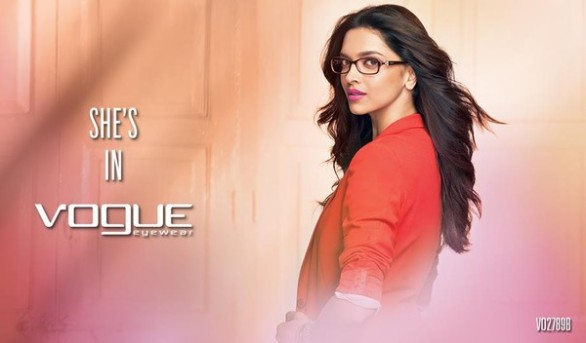 Deepika Padukone Print Media for Vogue Eyewear photos 6 586x343 Deepika Padukone Vogue Eyewear Photoshoot