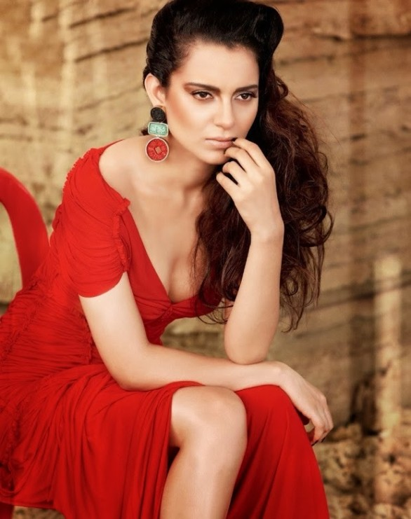 Kangana Ranaut ups the sexy quotient in the latest photo shoot for the Filmfare magazine. The vibrant red long gown, jaw-dropping pose and the popping out cute cleavage grab your attention instantly. She adds a bit of rawness by flashing her well-toned leg and the glowing skin makes her look like an irresistible item. Right from the beginning, Kangana was bold in her approach whether its in choosing scripts or link-ups or fashion statements or photo sessions. She has laid a path of her own and never-say-die attitude is her biggest strength. Keep rocking BOLD lady!