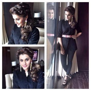 Taapssee Stuns in Black