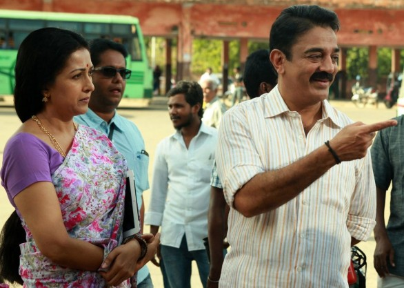 Actor Kamal Haasan, Charlie and Actress Gouthami in Papanasam Movie Stills