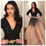 Aishwarya Rai struts down the red-carpet in a princess gown