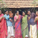 Srushti Dange's cheerful Pongal celebration in the sets of 'Kattil'!